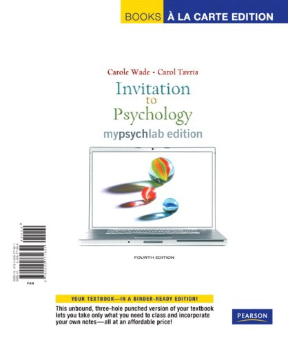 9780205771851: Invitation to Psychology, MyLab Edition, Books a la Carte Edition (4th Edition)