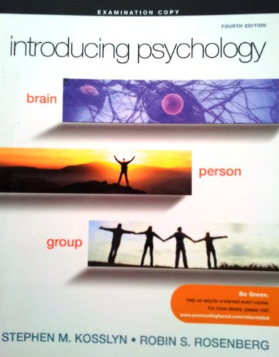 9780205777174: Introducing Psychology: Brain, Person, Group