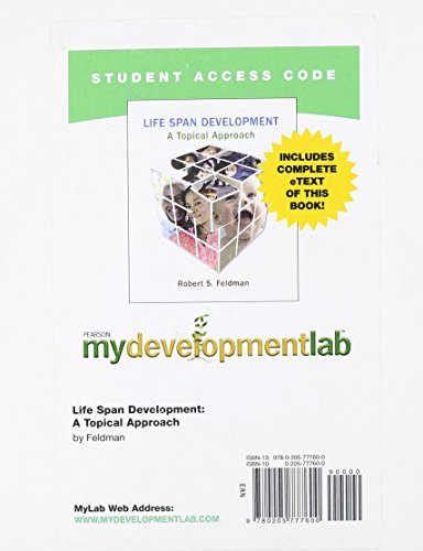9780205777600: Mydevelopmentlab with Pearson Etext -- Standalone Access Card -- For Life Span Development