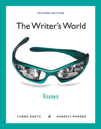 9780205781713: The Writer's World: Essays (2nd Edition)