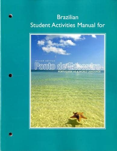 9780205783465: Brazilian Student Activities Manual for Ponto de Encontro: Portuguese as a World Language