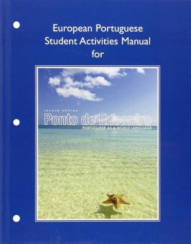 9780205783519: European Student Activities Manual for Ponto de Encontro: Portuguese as a World Language