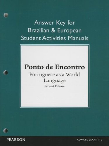 9780205783571: Brazilian and European Student Activities Manual Answer Key for Ponto de Encontro: Portuguese as a World Language