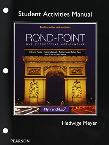9780205783649: Student Activities Manual for Rond-Point: une perspective actionnelle