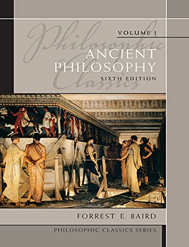 9780205783854: Philosophic Classics: Ancient Philosophy Volume I: 1 (Philosophic Classics (Pearson))