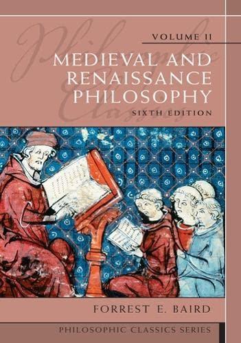 9780205783908: Philosophic Classics, Volume II: Medieval and Renaissance Philosophy (6th Edition)