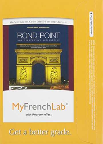 9780205784905: MyLab French with Pearson eText -- Access Card -- for Rond-Point: une perspective actionnelle (multi semester access) (2nd Edition) (My French Lab)