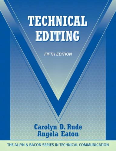 9780205786718: Technical Editing (5th Edition) (The Allyn & Bacon Seriesin Technical Communication)
