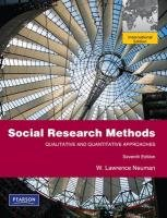9780205786831: Social Research Methods:Qualitative and Quantitative Approaches: International Edition