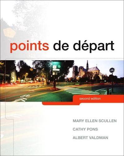 9780205788408: Points de départ (2nd Edition)