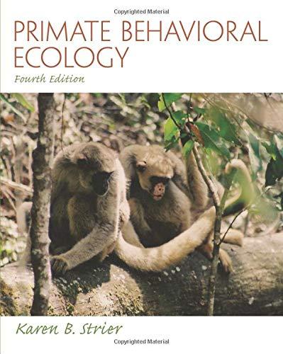 9780205790173: Primate Behavioral Ecology