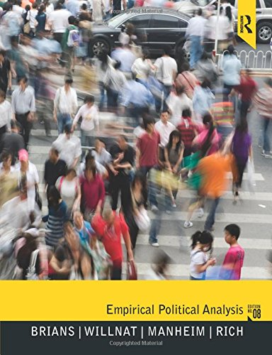 Empirical Political Analysis, 8th Edition: Brians, Craig Leonard;
