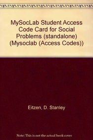 9780205794072: MySocLab Student Access Code Card for Social Problems (standalone) (Mysoclab (Access Codes))