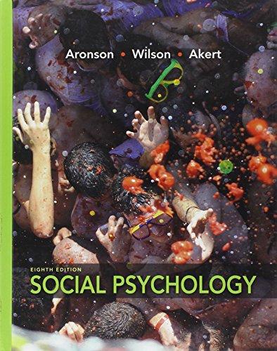9780205796625: Social Psychology (8th Edition)