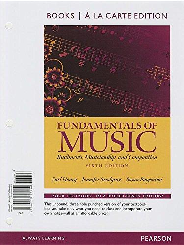 9780205796830: Fundamentals of Music, Books a la Carte Edition (6th Edition)