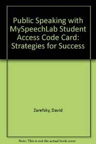 9780205799015: Public Speaking: Strategies for Success with MySpeechLab with Pearson eText (6th Edition)