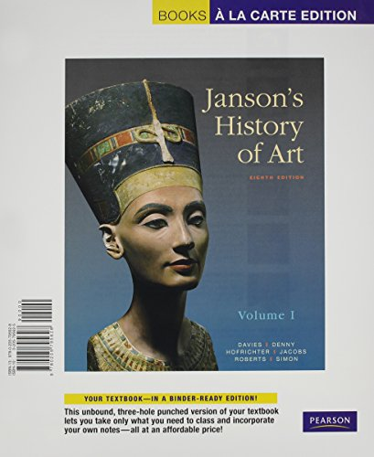9780205800490: Janson's History of Art: The Western Tradition, Volume I, Books a la Carte Plus MyArtsLab -- Access Card Package (8th Edition)
