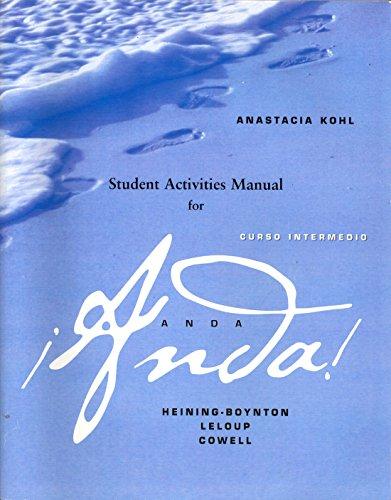 9780205800681: Student Activities Manual for Anda: Curso intermedio Revised