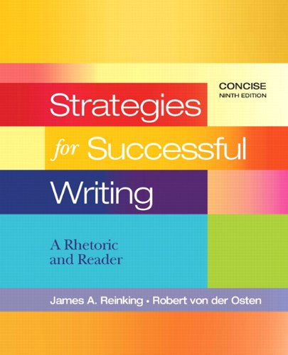9780205801947: Strategies for Successful Writing, Concise (9th Edition)