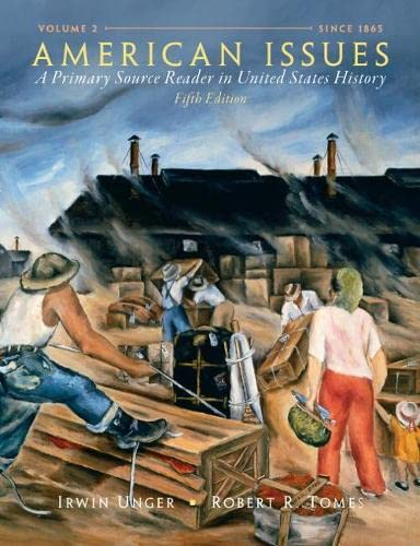 9780205803446: American Issues: A Primary Source Reader in United States History, Volume 2 (5th Edition)