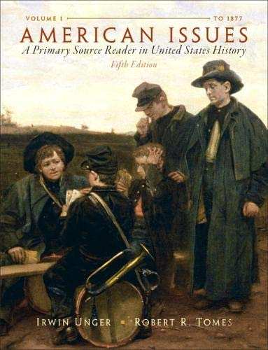 9780205803453: American Issues: A Primary Source Reader in United States History, Volume 1 (5th Edition)