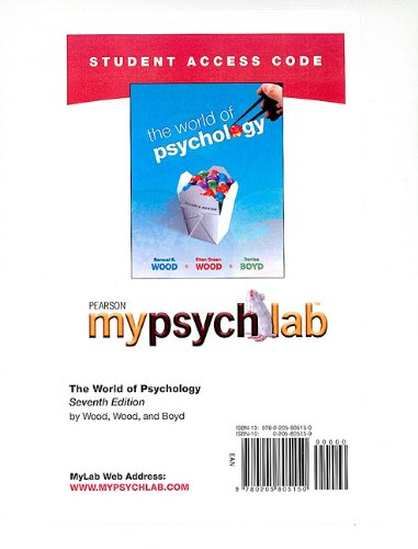 9780205805150: MyPsychLab without Pearson eText -- Standalone Access Card -- for The World of Psychology (7th Edition)