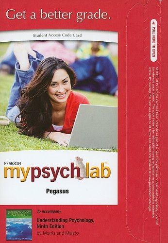 9780205805907: MyPsychLab Pegasus -- Standalone Access Card -- for Understanding Psychology (9th Edition) (Mypsychlab (Access Codes))