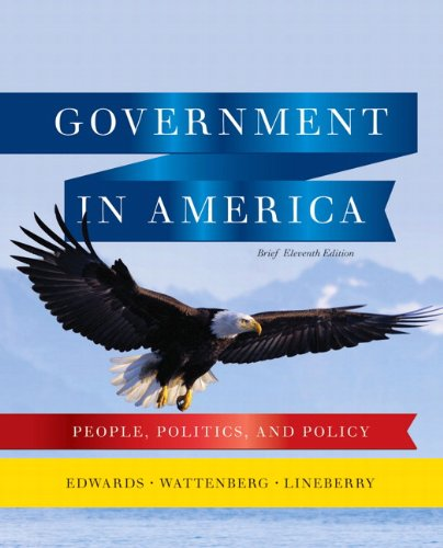 9780205806584: Government in America: People, Politics, and Policy, Brief Edition (11th Edition)