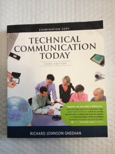9780205809172: Technical Communication Strategies for Today Examination Copy