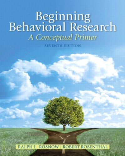9780205810314: Beginning Behavioral Research: A Conceptual Primer (7th Edition)