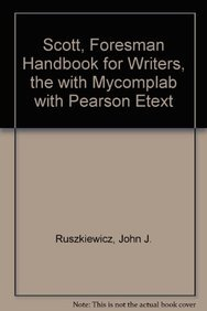 9780205816361: Scott, Foresman Handbook for Writers, The with MyCompLab with Pearson eText (9th Edition)