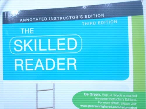 9780205819348: The Skilled Reader (Annotated Instructor's Edition)