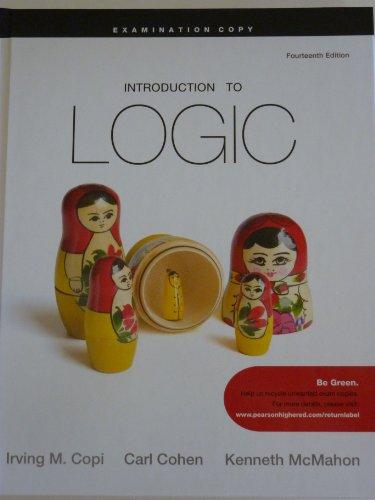 9780205820481: Introduction to Logic (Examination Copy)