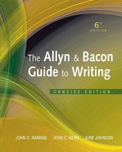 9780205823147: The Allyn & Bacon Guide to Writing