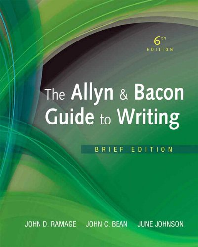 9780205823154: Allyn & Bacon Guide to Writing, The, Brief Edition (6th Edition)