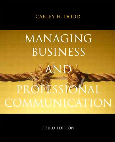 9780205823864: Managing Business & Professional Communication (3rd Edition)