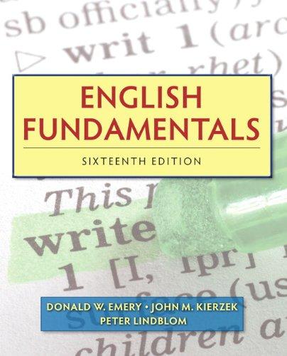 9780205825974: English Fundamentals (16th Edition) (Mywritinglab)