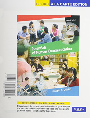9780205826056: Essentials of Human Communication, Books a la Carte Plus MyCommunicationLab -- Access Card Package (7th Edition)