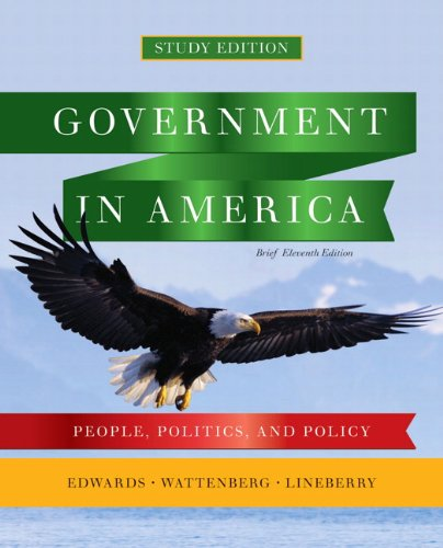 9780205826087: Government in America: People, Politics, and Policy, Brief Study Edition (11th Edition)