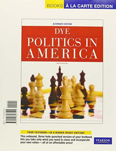 Politics in America, Alternate Edition, Books a la Carte Plus MyPoliSciLab -- Access Card Package (...