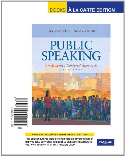 9780205827947: Public Speaking: An Audience-Centered Approach, Books a la Carte Edition (8th Edition)