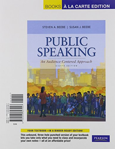 9780205827954: Public Speaking: An Audience-Centered Approach, Books a la Carte Plus MySpeechLab with eText -- Access Card Package (8th Edition)