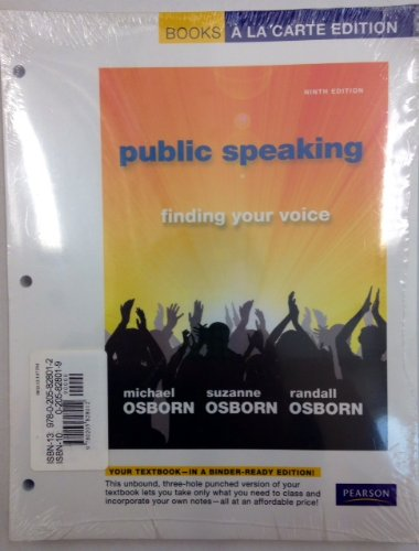 9780205828012: Public Speaking: Finding Your Voice, Books a la Carte Plus MySpeechLab with eText -- Access Card Package (9th Edition)