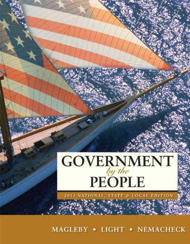 9780205828432: Government by the People, 2011 National, State, and Local Edition (24th Edition)