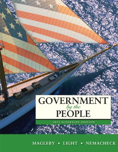9780205828456: Government by the People, 2011 Alternate Edition (24th Edition)