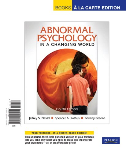 9780205828630: Abnormal Psychology in a Changing World, Books a la Carte Edition (8th Edition)