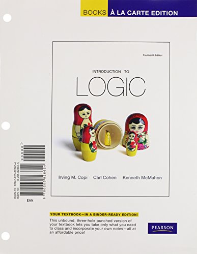 9780205828654: Introduction to Logic: Pearson New International Edition