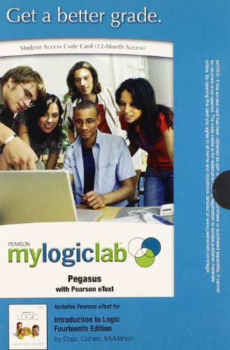 9780205829040: MyLogicLab with Pearson eText -- Standalone Access Card -- for Introduction to Logic (14th Edition) (mylogiclab (Access Codes))
