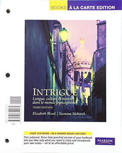9780205829279: Intrigue: langue, culture et mystére dans le monde francophone, Books a la Carte Edition (3rd Edition)