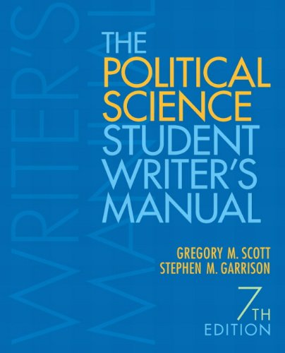 9780205830121: The Political Science Student Writer's Manual (7th Edition)